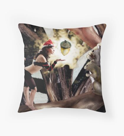 Marry Christmas - Squirrel girl Throw Pillow