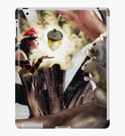 Marry Christmas - Squirrel girl iPad Case/Skin
