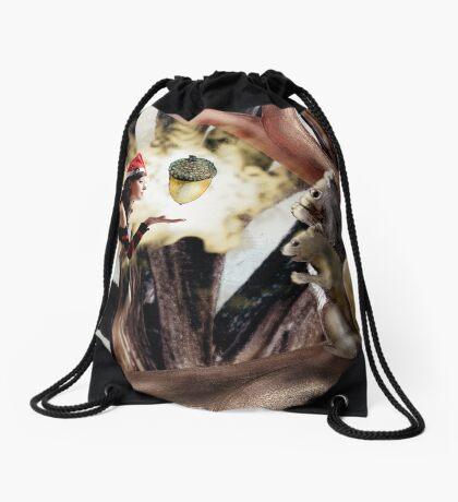 Marry Christmas - Squirrel girl Drawstring Bag