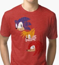 Sonic, Tails & Knuckles Tri-blend T-Shirt