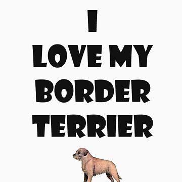 Border terrier love by meldevere
