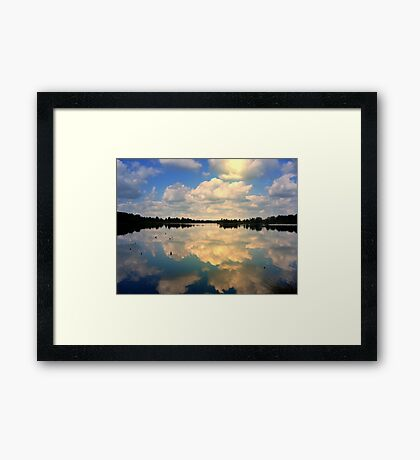 Sunlight and reflections Framed Print