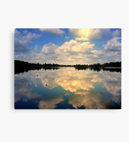 Sunlight and reflections Canvas Print