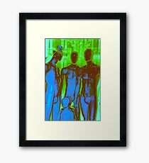 Parisian Mosaic - Piece 19 - Aliens in Paris Framed Print