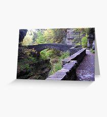 Enfield Glen Footbridge, Treman Park Greeting Card