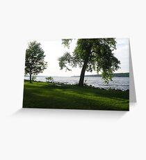 Taughannock Falls Shoreline Greeting Card