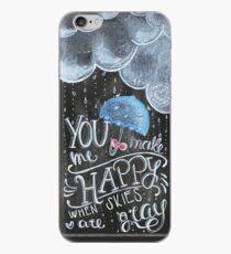 Happy COver Handmade chalkboard art iPhone Case