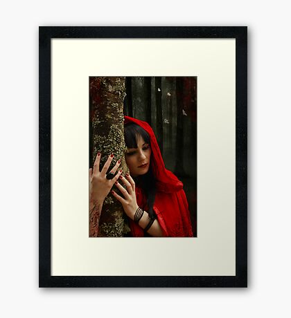 Hey There Little Red Riding Hood Framed Print