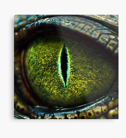 Eye of the Crocodile II [Print & iPad Case] Metal Print