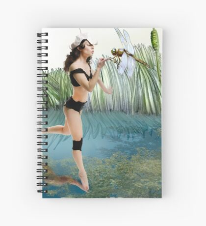 Fireflies on the Enchanted Lake - Arual Spiral Notebook