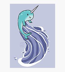 Narwhal Surf Photographic Print