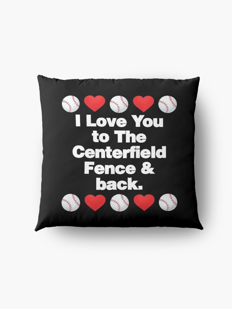 Alternate view of I Love You to The Centerfield Emoji Baseball Saying Floor Pillow