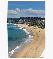 The Golden Shores Of Bar Beach Poster