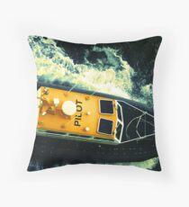 Pilot boat off the coast of Honolulu, HI Throw Pillow