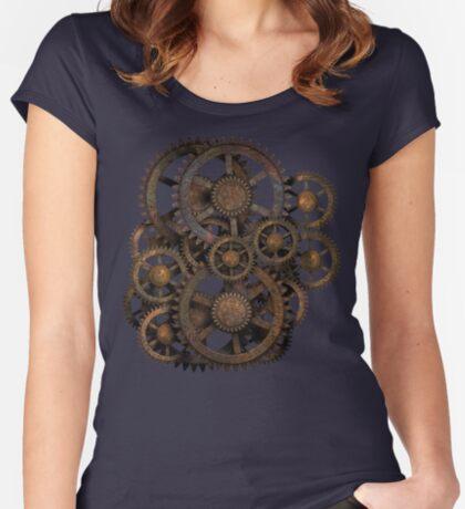 Infernal Vintage Steampunk Gears on your Gear Women's Fitted Scoop T-Shirt