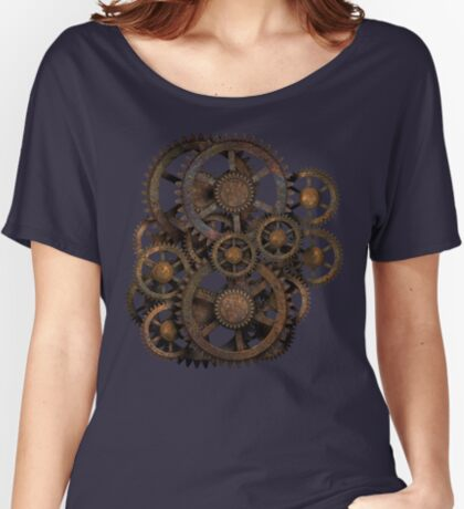 Infernal Vintage Steampunk Gears on your Gear Women's Relaxed Fit T-Shirt