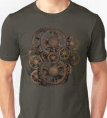 Infernal Vintage Steampunk Gears on your Gear Unisex T-Shirt