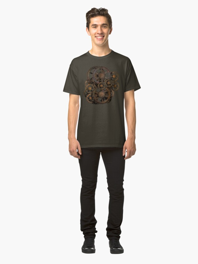 Alternate view of Infernal Vintage Steampunk Gears on your Gear Classic T-Shirt