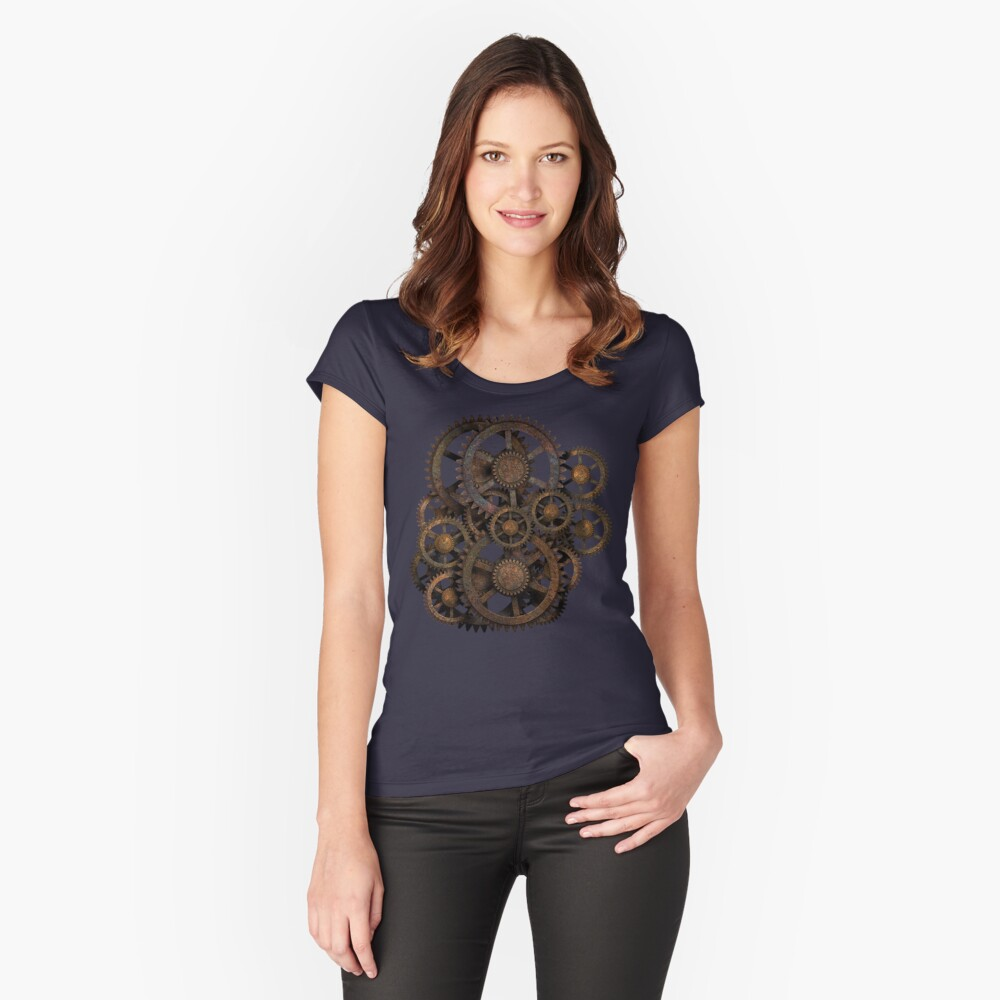 Infernal Vintage Steampunk Gears on your Gear Fitted Scoop T-Shirt