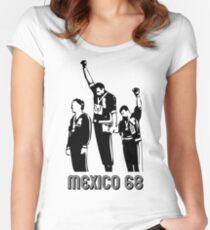 1968 Olympics Black Power Salute V2 Women's Fitted Scoop T-Shirt