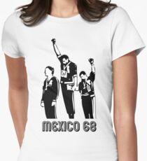 Olympische Spiele 1968 Black Power Salute V2 Tailliertes T-Shirt für Frauen