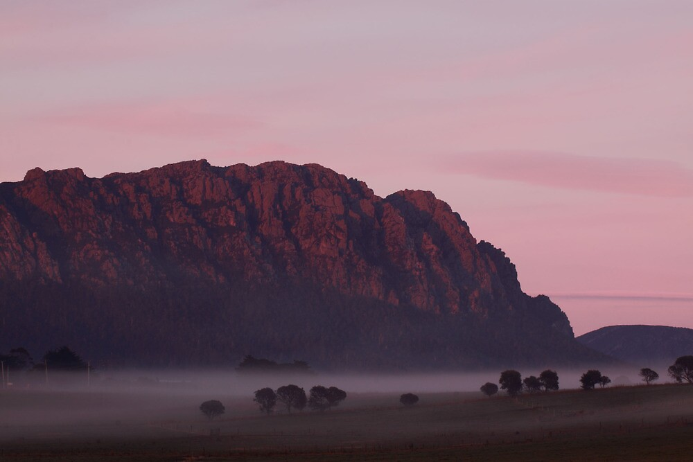 Mt Roland & Fog by Claire Walsh