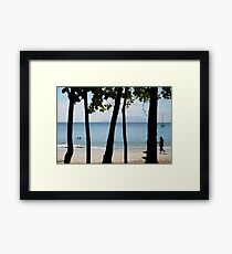 Sequential Beach Framed Print