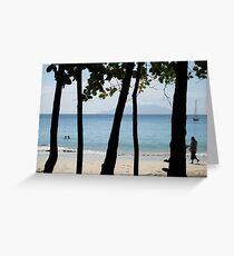 Sequential Beach Greeting Card