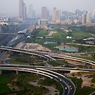 Emirates Golf Club and Sheikh Zayed Road by Helen Shippey