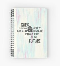 Pretty Painted Modern Typographic Bible Verse. Spiral Notebook