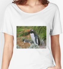 Gentoo Penguins on the Nest Women's Relaxed Fit T-Shirt