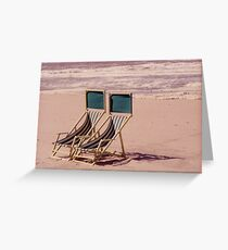 Empty Beach and Chairs Greeting Card