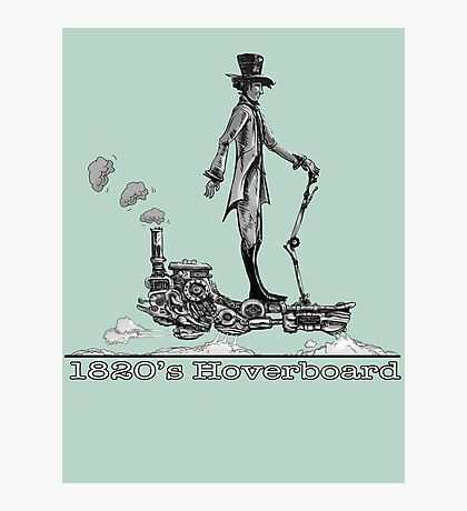 Steampunk Hoverboard Photographic Print