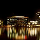 Tempe Town Lake At Night by Kgphotographics