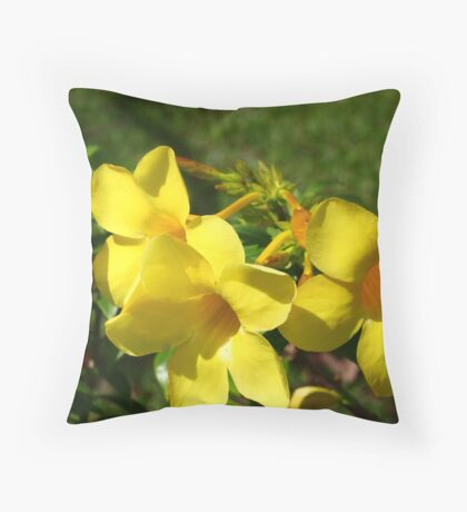 Yellow Blooming Throw Pillow