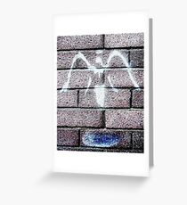 Urban Angel - Grey  Greeting Card