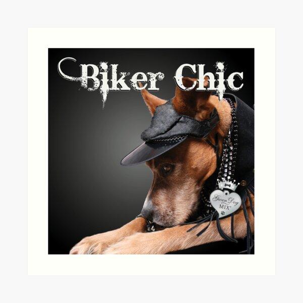 Biker Chic Art Print