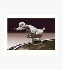 Angry Duck Hood Ornament Art Print