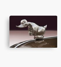 Angry Duck Hood Ornament Canvas Print
