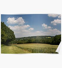 Summer in the Kent countryside Poster
