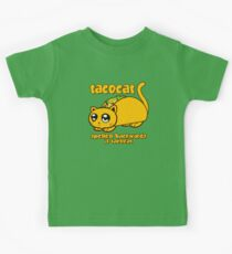 Funny - Tacocat Spelled Backwards (vintage look) Kids T-Shirt