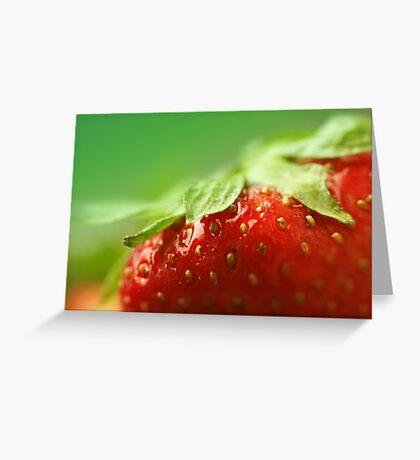 Sweet Summer Strawberry Greeting Card