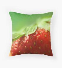 Sweet Summer Strawberry Throw Pillow