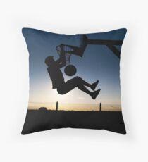Sunset Basketball Dunk Throw Pillow