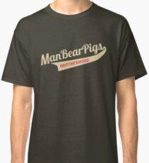 Man Bear Pigs Script Classic T-Shirt