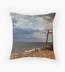 Red Sea Beach Throw Pillow