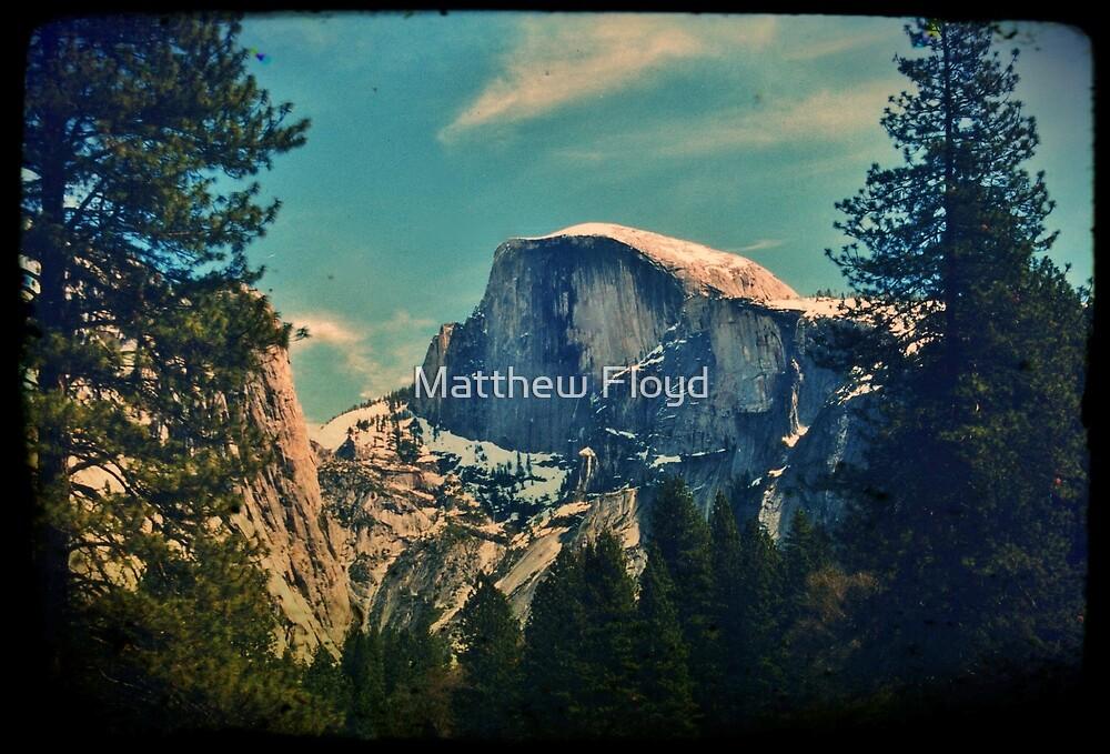 Half Dome - Yosemite National Park - Vintage by Matthew Floyd