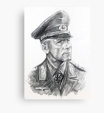 Erwin Rommel- portrait. Metal Print