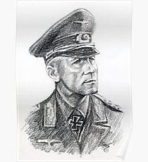 Erwin Rommel- portrait. Poster