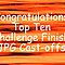 TOP TEN CHALLENGE FINISH BANNER
